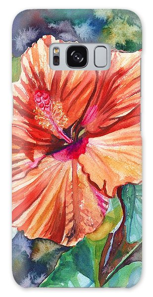 Tropical Hibiscus 5 Galaxy Case