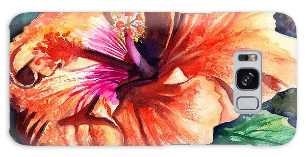Tropical Hibiscus Galaxy Case