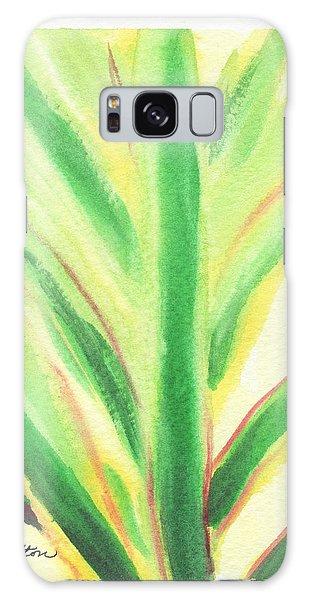 Tropical Leaf Galaxy Case by C Sitton