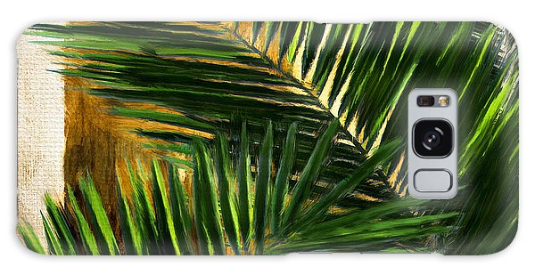 Nature Galaxy Case - Tropical Leaves by Lourry Legarde