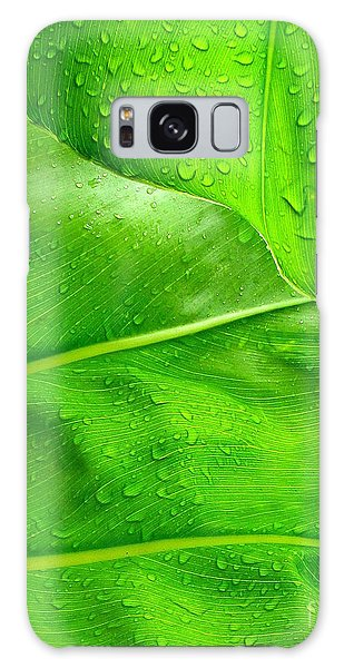 Tropical Leaves Galaxy Case by Ranjini Kandasamy