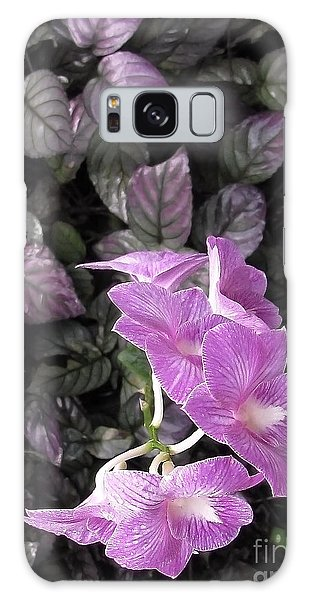 Tropical Orchids Galaxy Case by Ellen Cotton