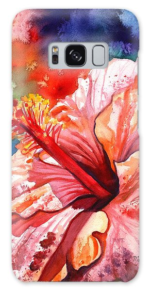 Tropical Pink Hibiscus Galaxy Case