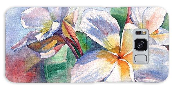 Tropical Plumeria Flowers Galaxy Case