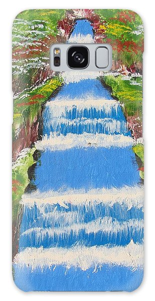 Tropical Rain Forest Water Fall Galaxy Case