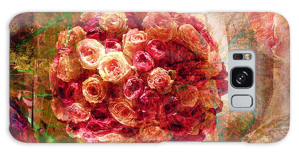 English Rose Bouquet Galaxy Case