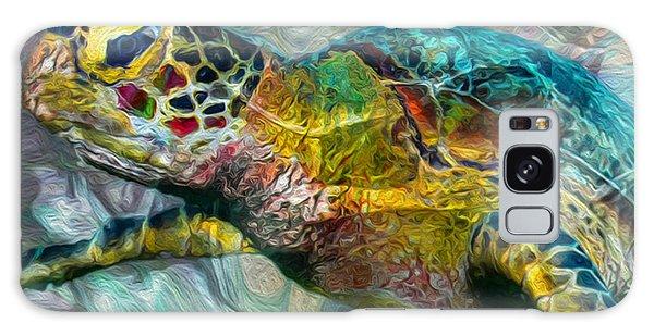 Scuba Diving Galaxy Case - Tropical Sea Turtle by Jack Zulli