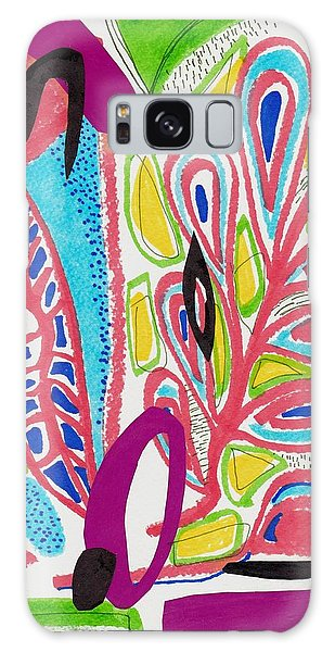 Tropical Shapes Abstract Collage Galaxy Case
