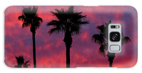 Tropical Sunset Galaxy Case by Laurel Powell