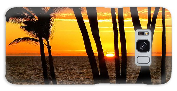 Tropical Sunset Galaxy Case by Lori Seaman