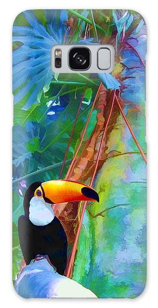 Tropical Toucan Galaxy Case by Kathleen Holley