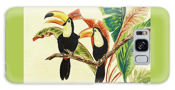 Toucan Galaxy S8 Case - Tropical Toucans I by Linda Baliko