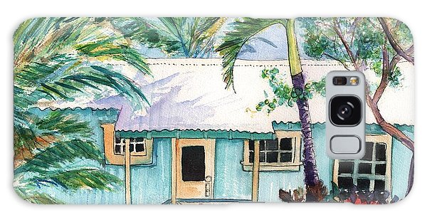 Tropical Vacation Cottage Galaxy Case by Marionette Taboniar