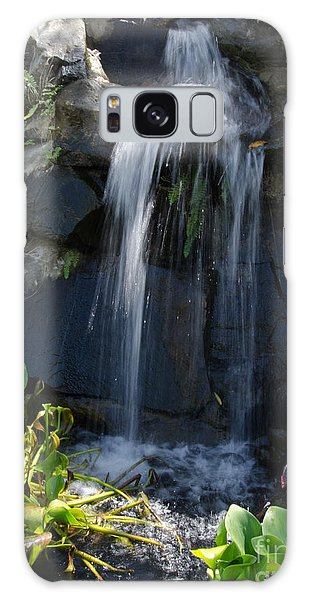 Tropical Waterfall  Galaxy Case
