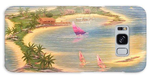 Tropical Windy Island Paradise Galaxy Case