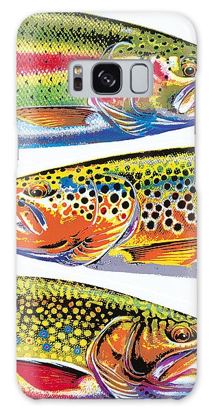 Trout Abstraction Galaxy Case