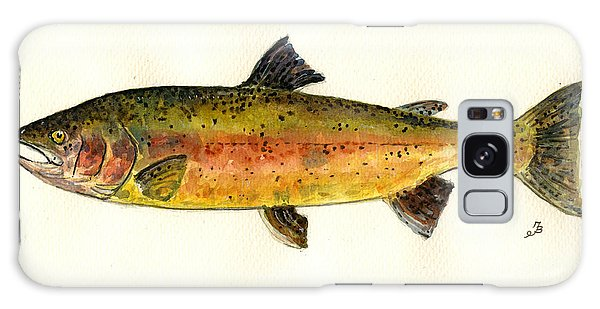 Salmon Galaxy S8 Case - Trout Fish by Juan  Bosco