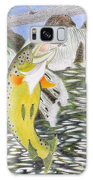 Trout Stream In May Galaxy Case by Gerald Strine