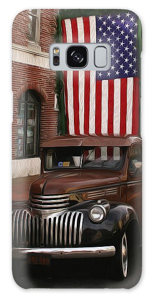 Truckin Old Glory Galaxy Case