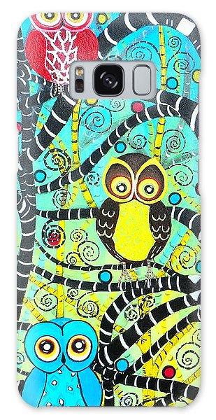 Trudys Owls Galaxy Case