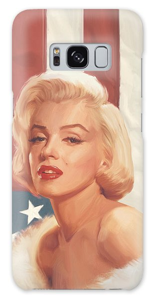 True Blue Marilyn In Flag Galaxy S8 Case