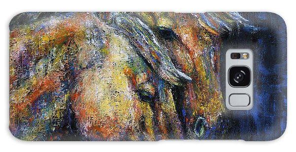True Companions Contemporary Horse Painting Galaxy Case
