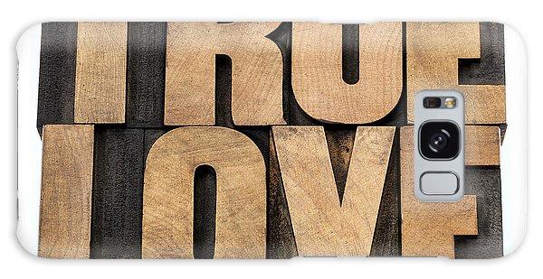 True Love In Wood Type Galaxy Case