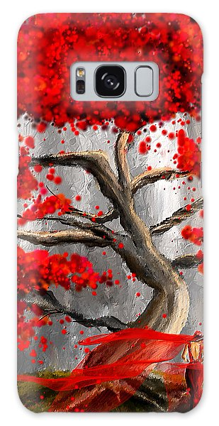 True Love Waits - Red And Gray Art Galaxy Case