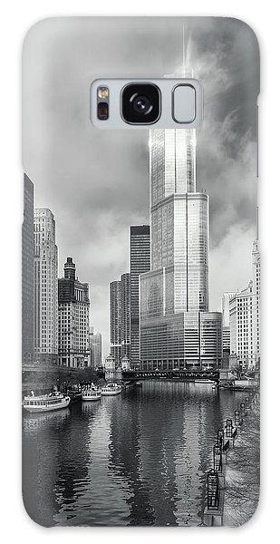 Galaxy Case featuring the photograph Trump Tower In Chicago by Steven Sparks