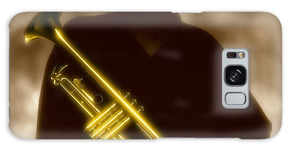 Man Holding Trumpet 1 Galaxy Case