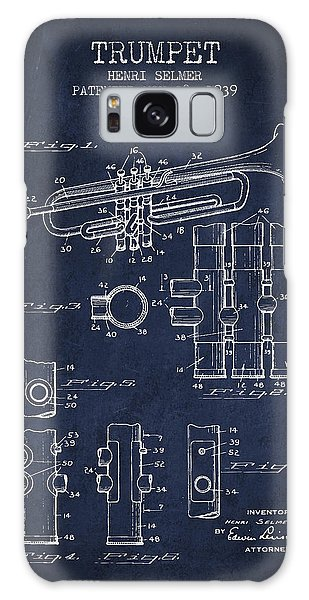 Trumpet Patent From 1939 - Blue Galaxy Case