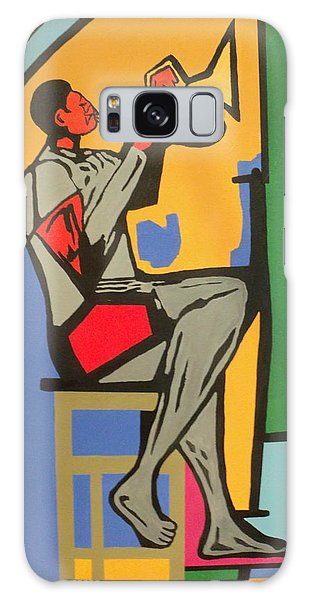 Trumpet Player IIi Galaxy Case