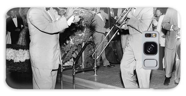 Trombone Galaxy Case - Trumpeter Louis Armstrong by Underwood Archives