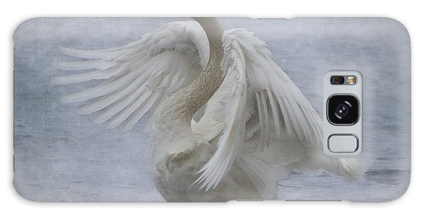 Trumpeter Swan - Misty Display Galaxy Case by Patti Deters