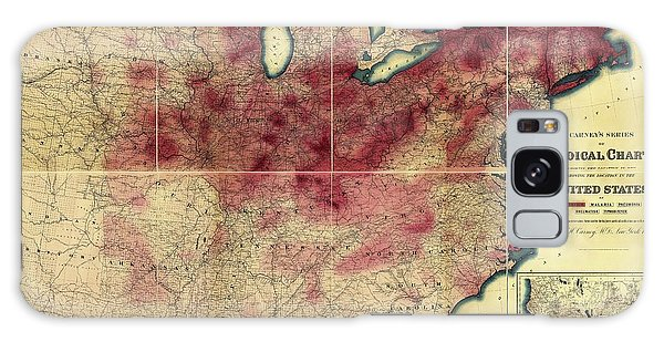 Usa Map Galaxy Case - Tuberculosis In The Usa by Library Of Congress, Geography And Map Division