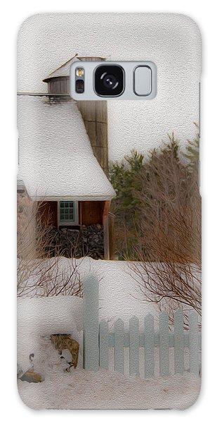 Tuftonboro Farm In Snow Galaxy Case