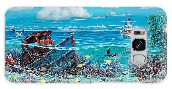 Mangrove Snapper Galaxy Case - Tug Boat Reef by Danielle  Perry