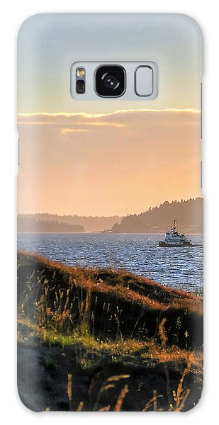 Tugboat Twilight - Chambers Bay Golf Course Galaxy Case