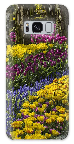 Tulip Beds Galaxy Case by Sonya Lang