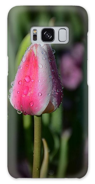 Tulip Bud With Water Galaxy Case