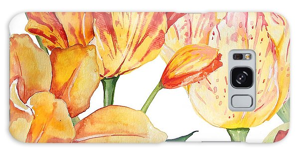 Wall Paper Galaxy Case - Tulip-jp2583 by Jean Plout