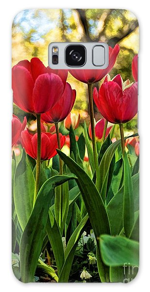 Tulip Time Galaxy Case by Peggy Hughes