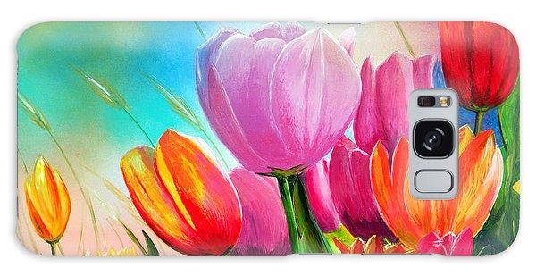 Tulipa Festivity Galaxy Case by Angel Ortiz