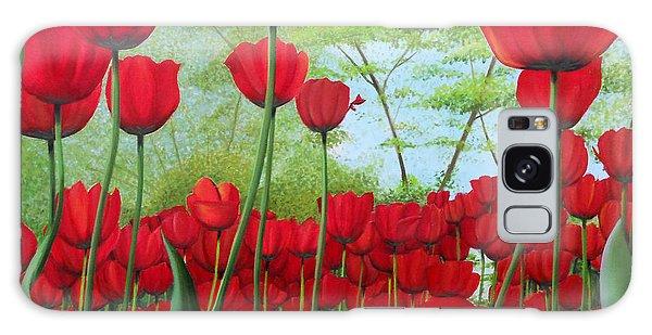 Tulipanes  Galaxy Case by Angel Ortiz