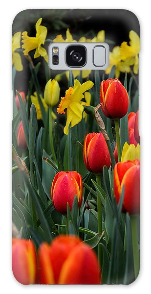 Tulips And Daffodils Galaxy Case
