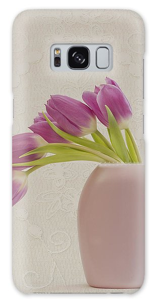 Tulips And Lace Galaxy Case by Sandra Foster