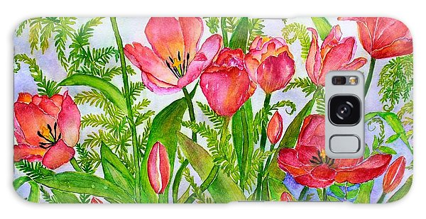 Tulips And Lacy Ferns Galaxy Case