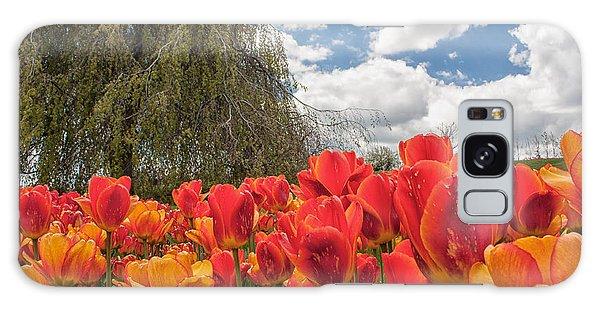 Tulips Galaxy Case by Brian Caldwell