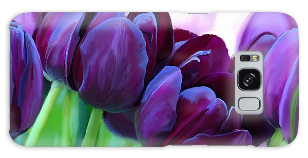 Tulips-dark-purple Galaxy Case