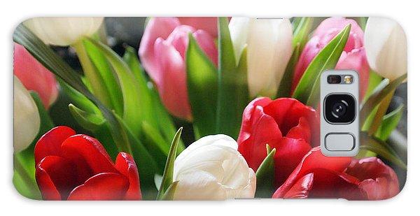 Tulips Galaxy Case by Deborah Fay